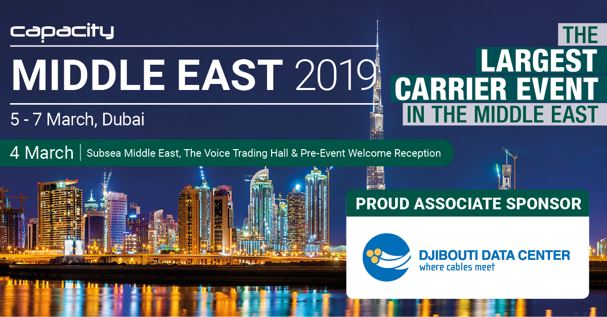 Capacity Middle East 2019, 4 - 7 March – Dubai