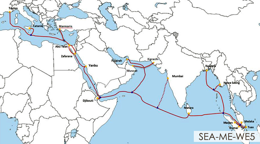 Asia-Africa-Europe (AAE-1) and SEA-ME-WE5 Submarine Fiber Optic Cables Land in Djibouti